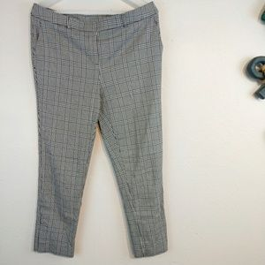 Plaid Pull Up Stretch Pants Large